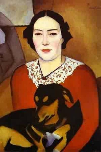 Lady with a dog portrait of esther schwartzmann 1911 xx the russian museum st petersburg russia